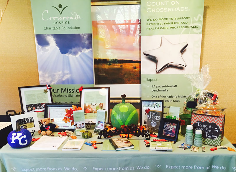 Crossroads Hospice Charitable Foundation at the 93rd annual Kansas City Southwest Clinical Society Fall Clinical Care Conference.