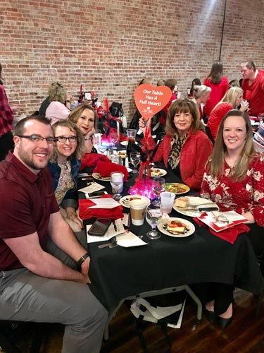 Crossroads Hospice Charitable Foundation team at the 2019 Go Red for Women Speak from the Heart event in Sedalia, Missouri.