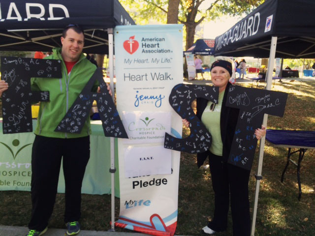 Crossroads Hospice Charitable Foundation at the 2015 Johnson County Heart Walk