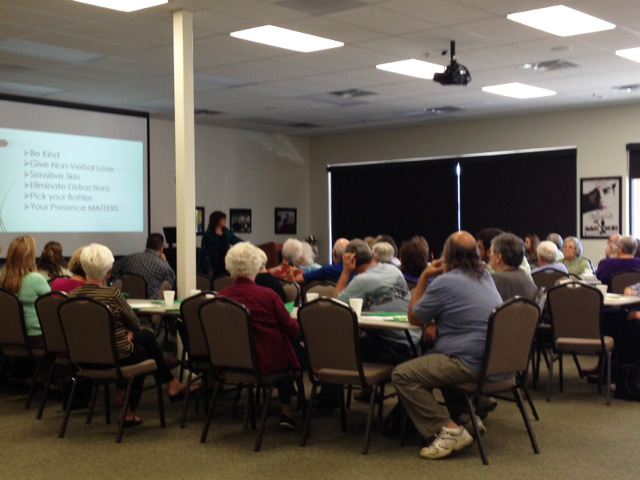 Over 50 caregivers from the Independence, Missouri area were in attendance at the dementia caregiver's workshop!