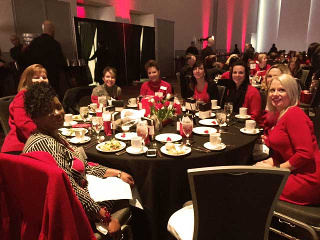 Crossroads Hospice Charitable Foundation supports the American Heart Association's Go Red for Women initiative and the Cleveland, Ohio Go Red for Women Health Expo.