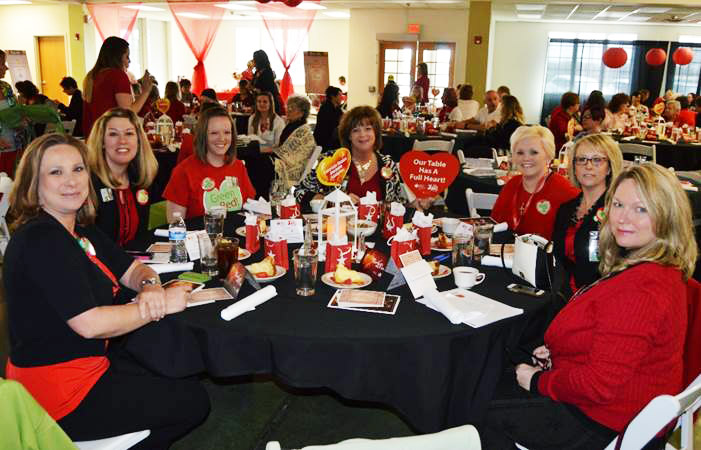 The Crossroads Hospice Charitable Foundation team at the 2016 Go Red for Women Luncheon in Sedalia, Missouri on March 19th.