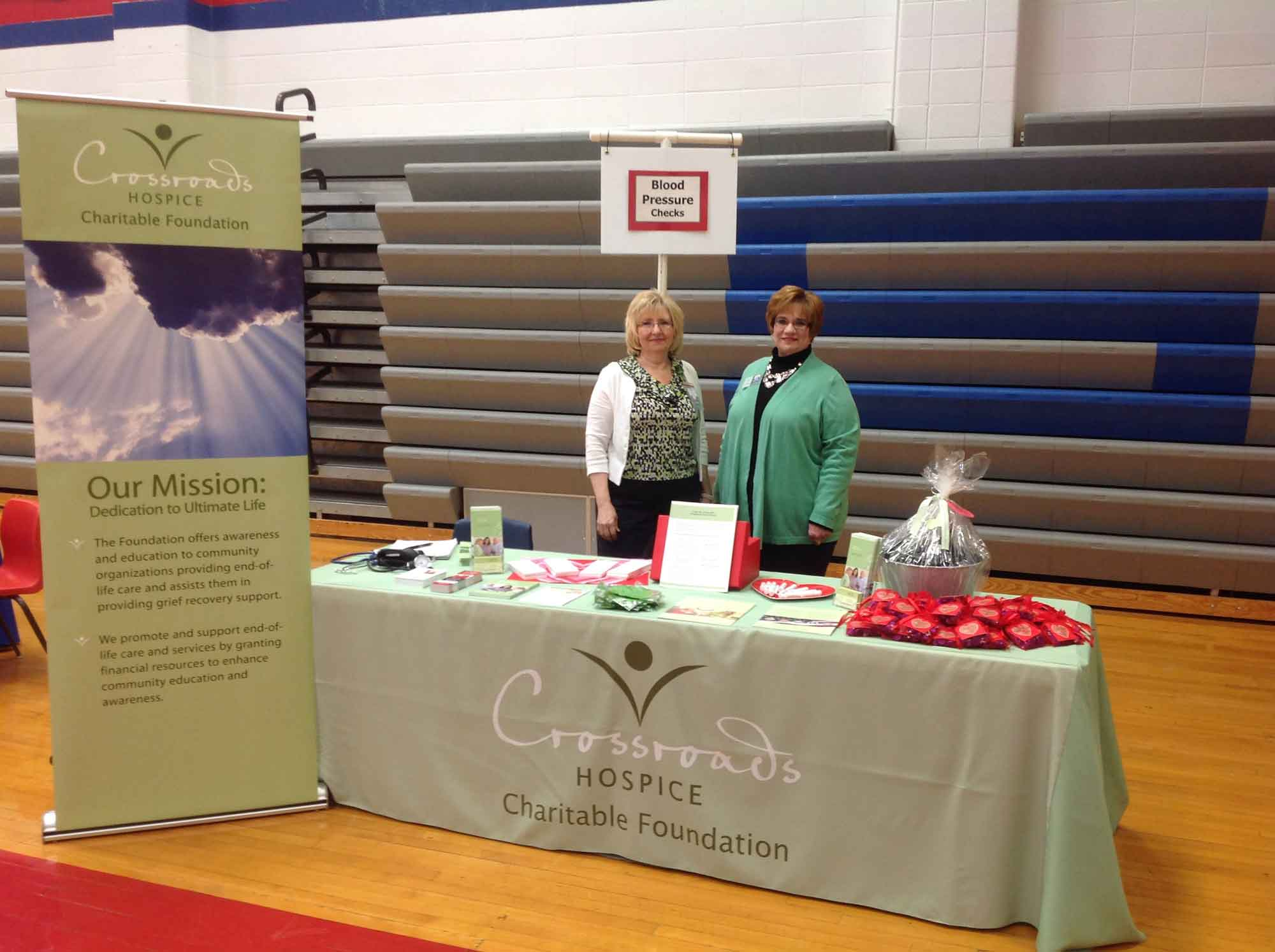 Crossroads Hospice Charitable Foundation had the honor of providing end-of-life education and grief recovery support at the Lafayette County Heart to Heart Women's Health Forum!